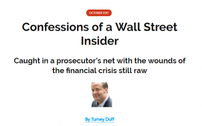 American Consequences – Caught in a prosecutor's net with the wounds of the financial crisis still raw